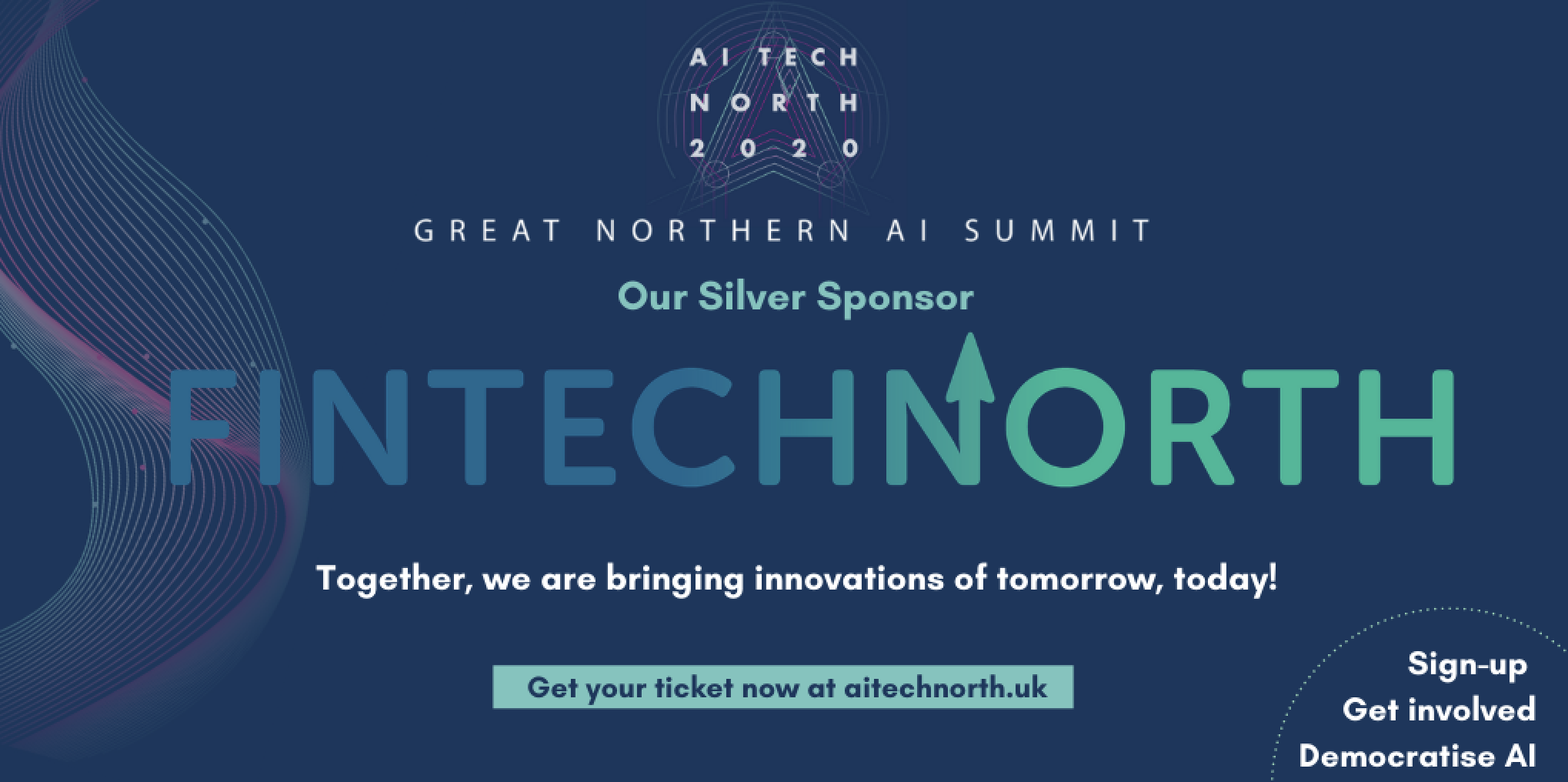 Discount for FinTech North Community at AI Tech North 2020